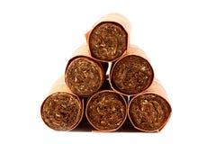 Sechs Zigarren in den Abdeckungen Lizenzfreies Stockbild
