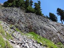 Sechseckige Bildung des vulkanischen Rocks Lizenzfreie Stockfotos