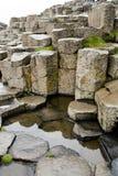 Sechseckige Felsen Giants-Damm, Nordirland Stockbilder