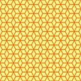 Sechseckige Form-gelegentliches Muster nahtlos Stockfotografie