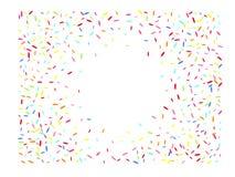 Sechseckige Formmehrfarbenkonfettis hell vektor abbildung