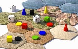 sechseckige Illustration des Brettspiels 3d Lizenzfreie Stockfotos