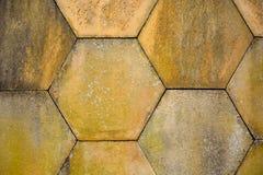 Sechseckige Steine Stockbild