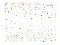 Sechseckiger Formkonfettimehrfarbenhintergrund vektor abbildung