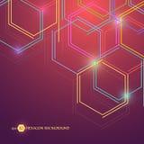 Sechseckiger geometrischer Hintergrund Geschäftsdarstellung für Ihr Design und Text Minimales grafisches Konzept Vorrat ENV 10 Stockfotografie