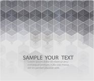 Sechseckiger Hintergrund des Vektors Geometrische Abstraktion Digital mit Linien und Punkten Geometrische abstrakte Auslegung vektor abbildung
