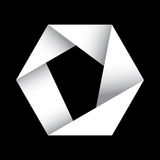 Sechseckiger Vektor des Origamis stock abbildung