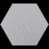 Sechseckiges Aluminium-abgeschrägte Platte mit Beschneidungspfad Lizenzfreie Stockbilder