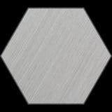 Sechseckiges Aluminium-abgeschrägte Platte mit Beschneidungspfad Lizenzfreies Stockfoto
