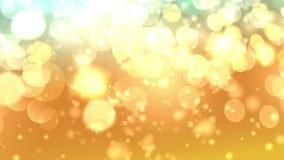 Sechseckiges bokeh Lichter des gelb-orangeen Hintergrundes lizenzfreie abbildung
