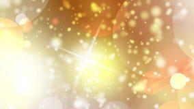 Sechseckiges bokeh Lichter des gelb-orangeen Hintergrundes stock abbildung