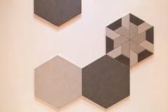 Sechseckiges Fliesenmosaik-Hintergrunddesign Lizenzfreie Stockbilder