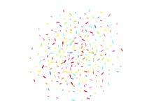 Sechseckiges Formkonfettimehrfarbenkonzept vektor abbildung