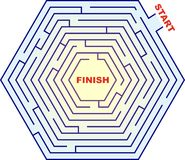 Sechseckiges Labyrinth - Labyrinth Lizenzfreies Stockfoto