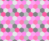 Sechseckiges Muster Abstrakter vektorhintergrund Stockfotografie