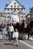 Sechselautenparade, Zürich, Zwitserland Stock Foto's