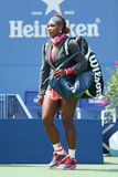 Sechzehnmal Grand Slam-Meister Serena Williams bei Billie Jean King National Tennis Center Lizenzfreie Stockbilder