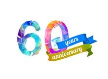 60 sechzig Jahre Jahrestag vektor abbildung