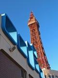 Sechziger-Architektur, Blackpool lizenzfreies stockfoto
