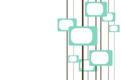 Sechziger-Fernsehapparate Stockbild