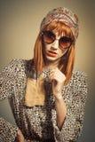 Sechziger-Retro- Mode-Blick Lizenzfreies Stockfoto