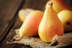 Seckel pears Stock Photo