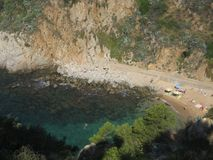 Seclude beach, Costa Brava. Spain Stock Image