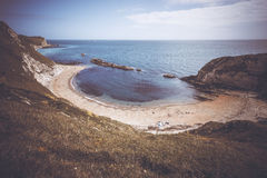 Seclude beach cove Stock Photography