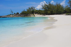 Secluded Bahamas Beach Stock Image