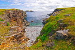 Secluded Bay on a Rocky Coast Stock Photography