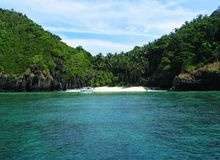Secluded Beach. At Phi Phi Island stock photos