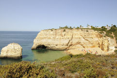 Secluded Beach, Algarve Royalty Free Stock Photos