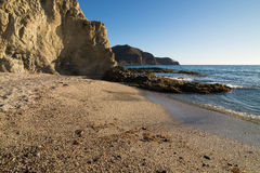 Secluded beach, Almeria Royalty Free Stock Images