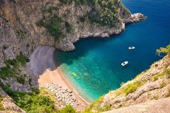 Secluded beach on the Amalfi Coast Royalty Free Stock Photos