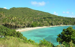Secluded beach on Bequia royalty free stock photography