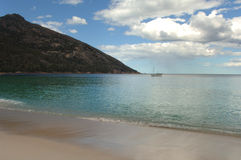 Tranquil secluded beach Stock Images