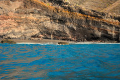 Secluded beach on the coast of Tenerife Royalty Free Stock Photo