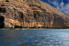 Secluded beach on the coast of Tenerife Stock Photo