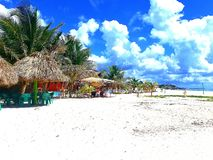 A secluded beach in Cozumel Mexico royalty free stock photos
