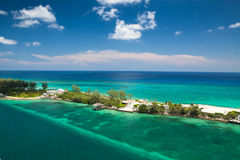 Secluded beach island in the Bahamas Stock Image