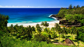 Secluded Beach, Kauai Hawaii Stock Photo