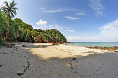 Secluded beach on Kradan island Stock Images