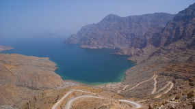 Secluded Beach in the Oman Mountains Royalty Free Stock Photos