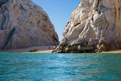 Secluded beach among the rocks in Cabo San Lucas (Mexico). It's a wild, secluded beach with beautiful rocky coastline in Cabo San Lucas (Mexico). The beaches in Stock Photos