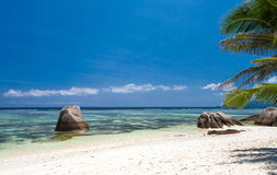 Secluded Beach In The Seychelles Royalty Free Stock Photos
