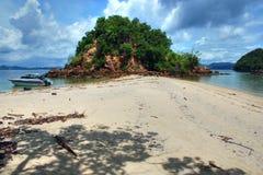 Secluded Beach, Thailand, August 2007. A deserted beach of the wonderful Thailand Coast Royalty Free Stock Photos