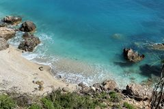 Secluded beach stock photography