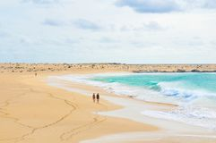 Secluded beaches of Cape Verde Stock Photo