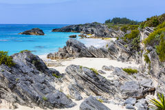 Secluded Bermuda Beach Stock Images