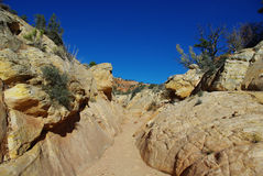 Secluded canyon, Utah. Grand Stair Escalante National Monument Royalty Free Stock Photos